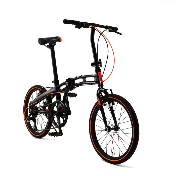 【4589946139389】【ドッペルギャンガー】 20インチ 折りたたみ自転車 202-S-DP 【Blackmax シリーズ】シマノ7段変速 アルミフレーム ミニベロ 2018年モデル  【代引き、日時指定配送不可】