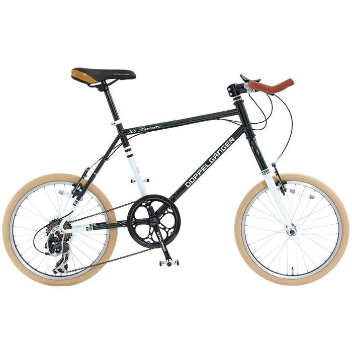 【4582143467484】【ドッペルギャンガー】 20インチ 折りたたみ自転車 260-GR BACKFLIPPERシリーズ PARCEIRO 独自開発折りたたみフレーム採用  【代引き、日時指定配送不可】