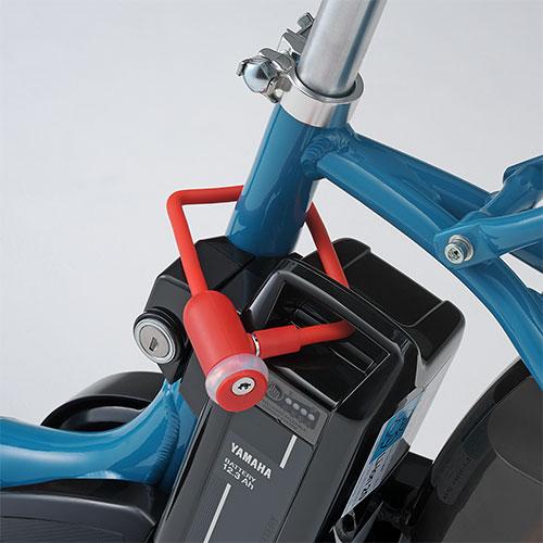 バッテリー盗難防止用の専用ロック 百貨店 YAMAHA ヤマハ QQ1-SGI-737-725 電動アシスト自転車 PAS用バッテリーロック スーパーセール期間限定