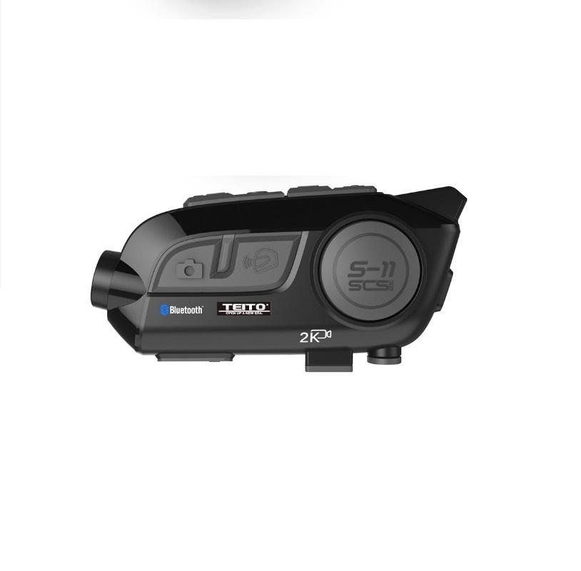 自分の声も録画できる2Kインカム 【TEITO】 バイク用 2K高画質カメラ付きインカム S-11 ドライブレコーダー WIFI搭載 角度変更可能 音楽共有 グループ通話 ブルートゥース5.0  防水 ヘルメット インターコム  ツーリング  S-11