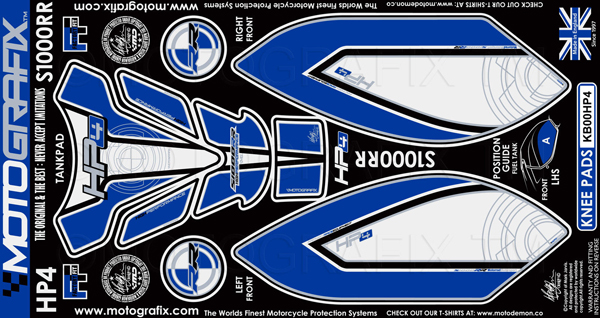 【送料無料】【モトグラフィックス・海外取り寄せ 約一か月】 【4580041201971】ボディパッド KNEE/TANK S1000RR HP4 P084-0201【キャンセル不可商品です】