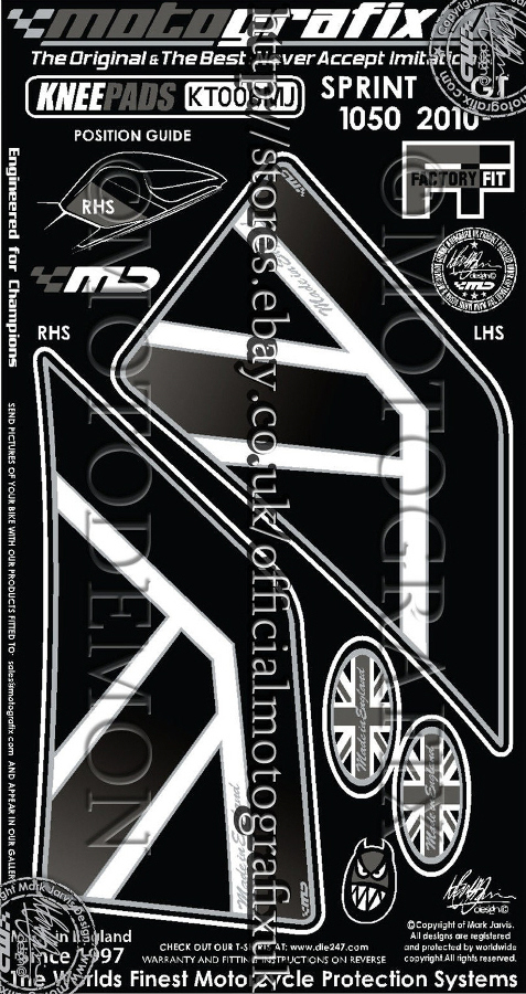 【モトグラフィックス・海外取り寄せ 約一か月】 【4580041203104】ボディパッド KNEE SPRINT ST/GT P084-0314
