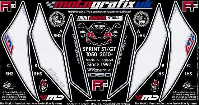 【送料無料】【モトグラフィックス・海外取り寄せ 約一か月】 【4580041206600】ボディパッド FRONT SPRINT ST/GT 10/11 P084-0664【キャンセル不可商品です】