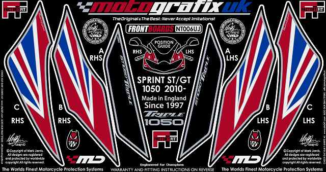【送料無料】【モトグラフィックス・海外取り寄せ 約一か月】 【4580041206617】ボディパッド FRONT SPRINT ST/GT 10/11 P084-0665【キャンセル不可商品です】
