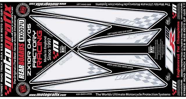 【送料無料】【モトグラフィックス・海外取り寄せ 約一か月】 【4580041208475】ボディパッド REAR      ZX-10R NINJA C SERIES 04/05 P084-0851【キャンセル不可商品】