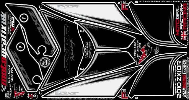 【モトグラフィックス・海外取り寄せ 約一か月】 【4580041208550】ボディパッド REAR ZX-10R NINJA 10- P084-0859
