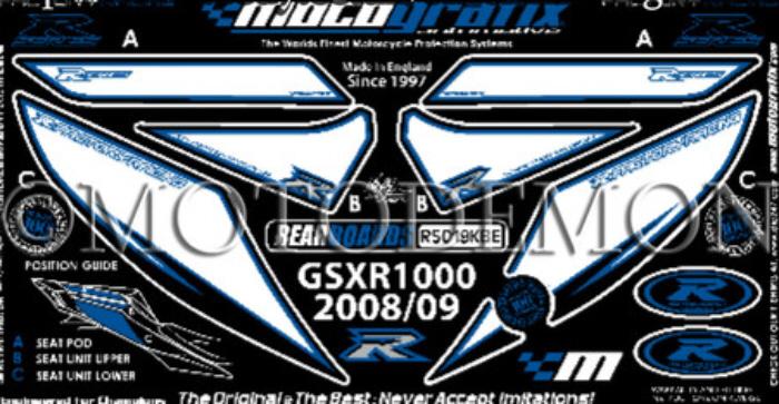 【モトグラフィックス・海外取り寄せ 約一か月】 【4580041209182】ボディパッド REAR GSX-R1000 K9/L1(09- P084-0922