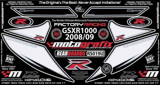 【送料無料】【モトグラフィックス・海外取り寄せ 約一か月】 【4580041209199】ボディパッド REAR GSX-R1000 K9/L1(09- P084-0923【キャンセル不可商品】