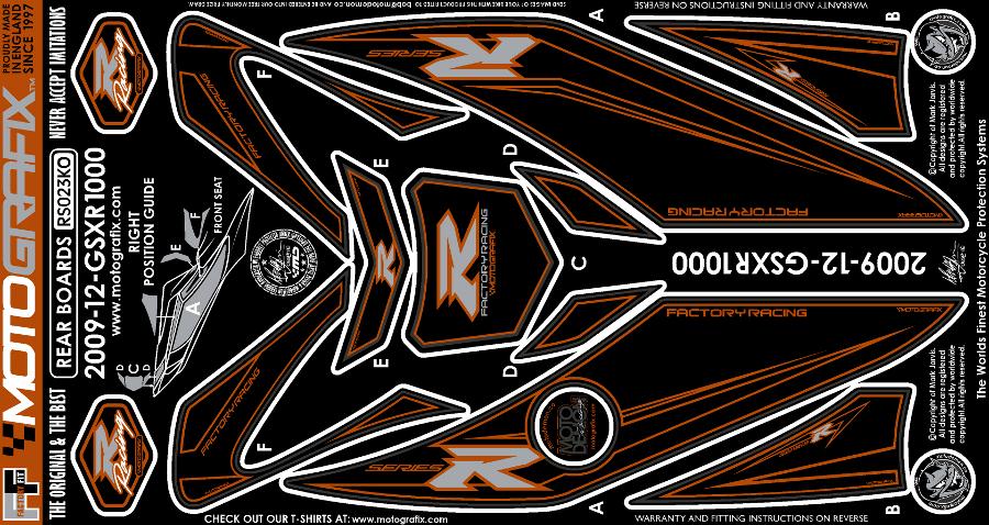【モトグラフィックス・海外取り寄せ 約一か月】 【4580041209328】ボディパッド REAR GSX-R1000 L2(12- P084-0936