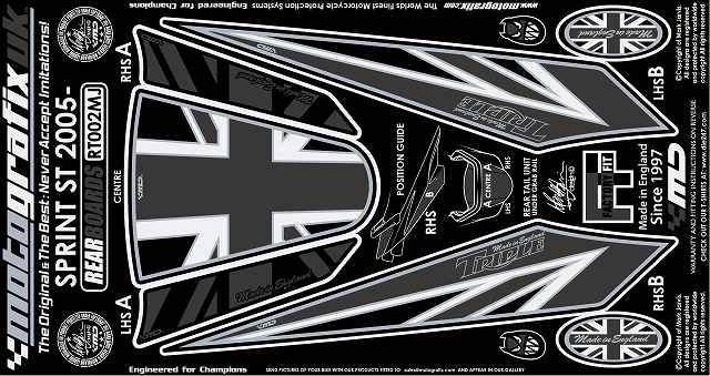 【送料無料】【モトグラフィックス・海外取り寄せ 約一か月】 【4580041209427】ボディパッド REAR SPRINT ST 05-09 P084-0946【キャンセル不可商品です】