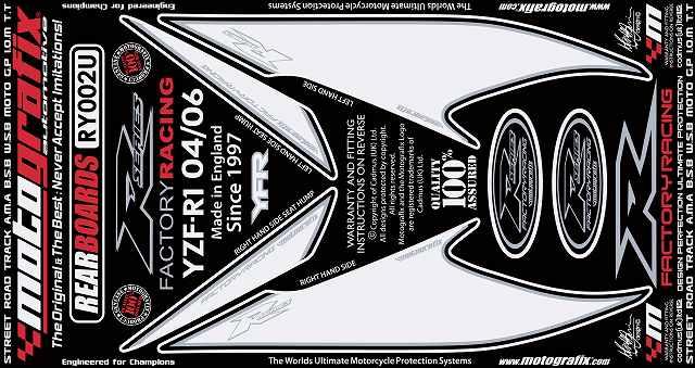 【送料無料】【モトグラフィックス・海外取り寄せ 約一か月】 【4580041209496】ボディパッド REAR YZF-R1 04-06 P084-0953【キャンセル不可商品です】
