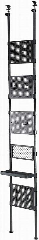 【送料無料】【ドッペルギャンガー】 【4589946143591】ウォールガンラック サバイバルゲーム 垂直格納 トイガン 什器 ディスプレイ 収納 パンチングボード トレイ付き gr27-gy【サバイバルゲームの装備一式を垂直格納】