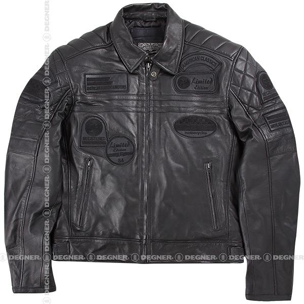 【送料無料】【デグナー(DEGNER)】 14WJ-3C ヴィンテージレザージャケット ブラック 【WEB正規代理店】