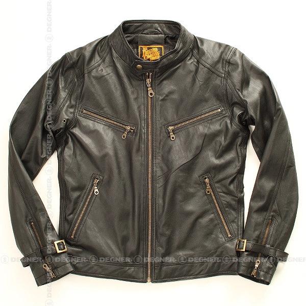 【送料無料】【デグナー(DEGNER)】 8SJ-1 レザージャケット ブラック 【WEB正規代理店】