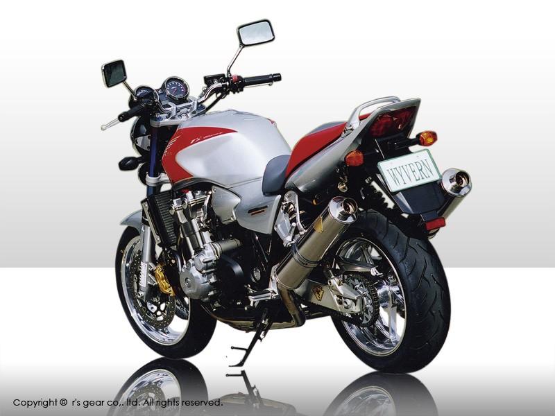 【送料無料】【代引不可】【r's gear】 アールズギア ワイバン ツイン オーバルTI CB1300SF/SB 08 マフラー WH09-02OT
