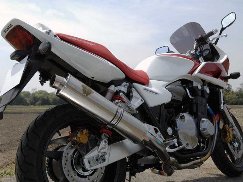 【送料無料】【代引不可】【r's gear】 アールズギア ソニック シングル カーボン CB1300SF/SB 08 マフラー SH09-01CF