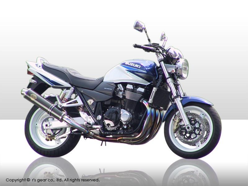【代引不可】【r's gear】 アールズギア ソニック ツイン DB GSX1400 マフラー SS01-02DB