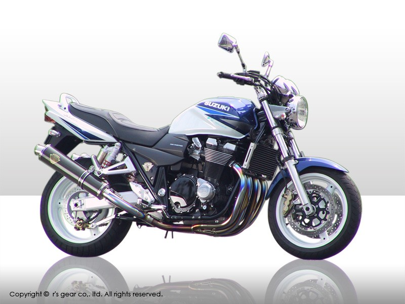 【送料無料】【代引不可】【r's gear】 アールズギア ソニック ツイン カーボン GSX1400 マフラー SS01-02CF