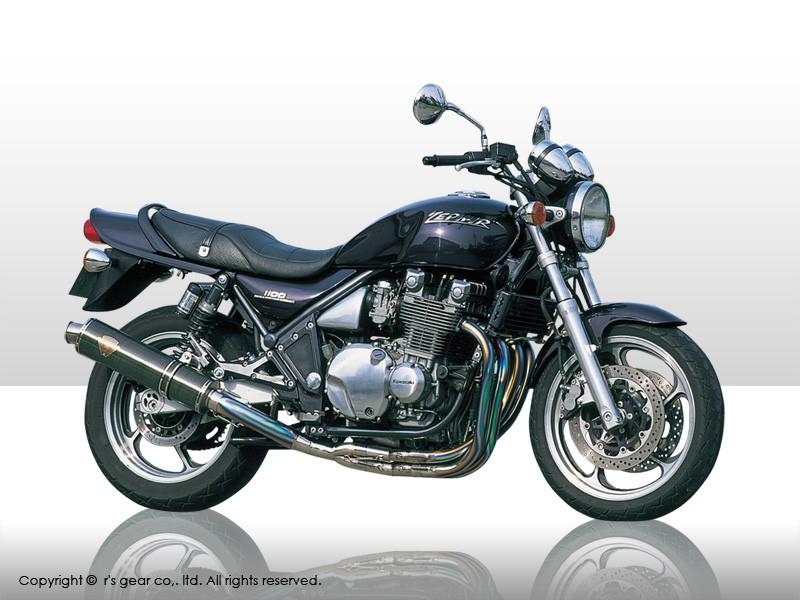 【送料無料】【代引不可】【r's gear】 アールズギア ワイバン シングル Sタイプ オーバルTI ZEPHYR1100 WK01-STOT 【4582329781977】