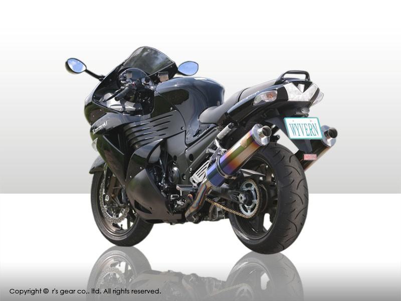【送料無料】【代引不可】【r's gear】 アールズギア ワイバン S/O オーバルTI ZZR1400 -07 WK09-03OT 【4582329782479】