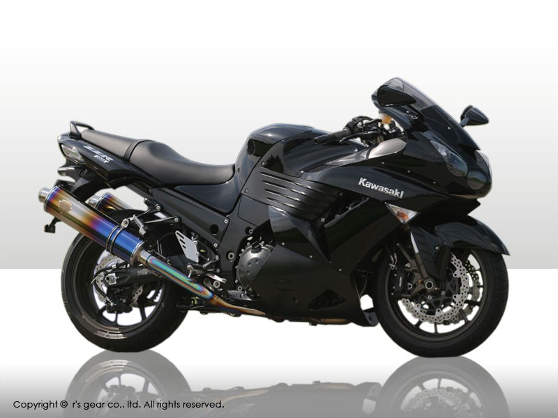 【代引不可】【r's gear】 アールズギア ワイバン ツイン オーバルTI ZZR1400 -07 WK09-02OT 【4582329782585】