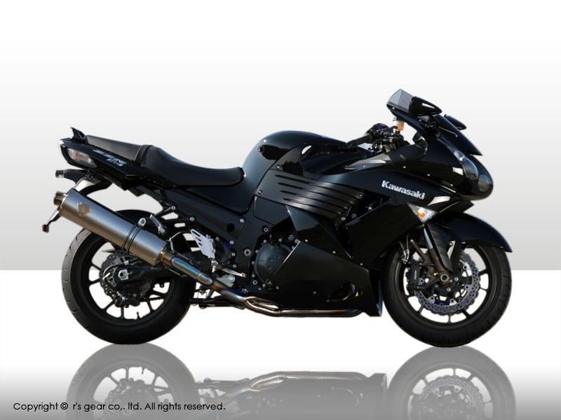 【代引不可】【r's gear】 アールズギア ワイバン シングル オーバルTI ZZR1400 -07 WK09-01OT 【4582329782523】