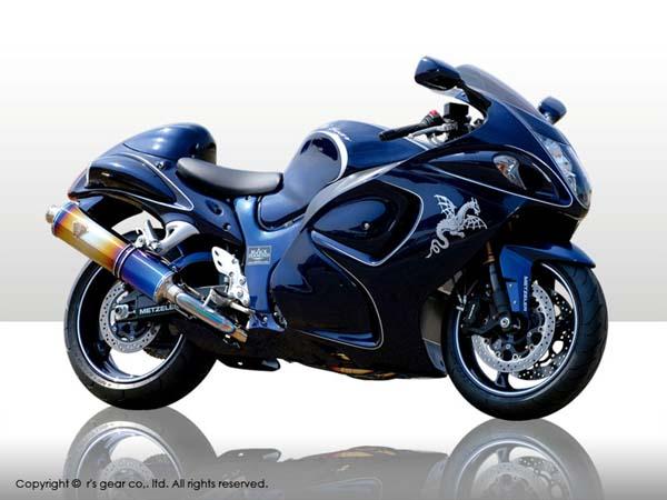 【送料無料】【代引不可】【r's gear】 アールズギア ワイバン シングル クロスオーバルDB GSX1300R 08- マフラー WS07-01XD