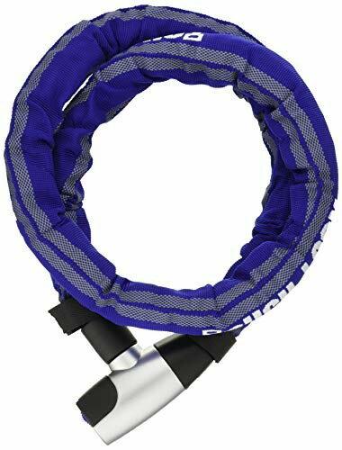 送料無料 極太ジョイントワイヤー ウェーブキー3本付き 格安激安 ヤマハ YAMAHA スチールリンクロック ワイズギア Q5KYSK107T12 直送商品 1.2m YL-02 ブルー