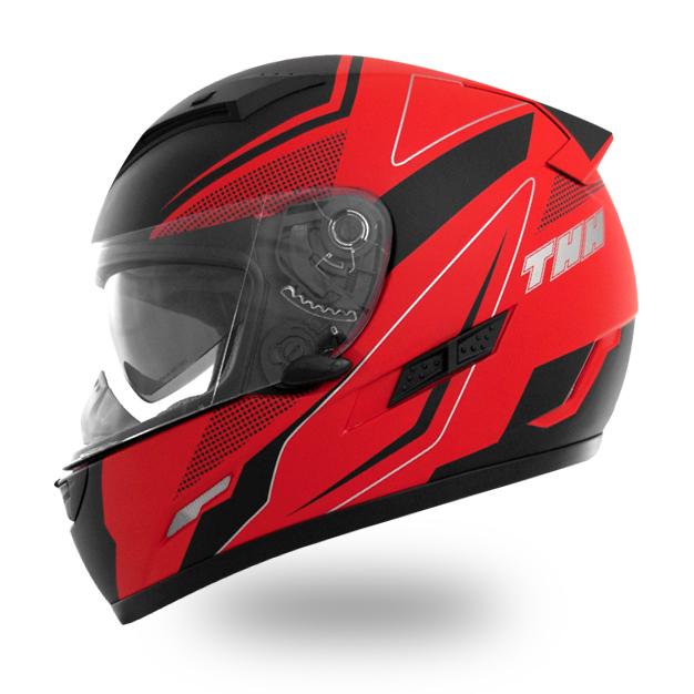 【THH】 インナーサンバイザー装備 フルフェイスヘルメット TS-80 マットレッドブラック PINLOCK対応シールド装備 全排気量対応 【thh-ts80-fmrk】