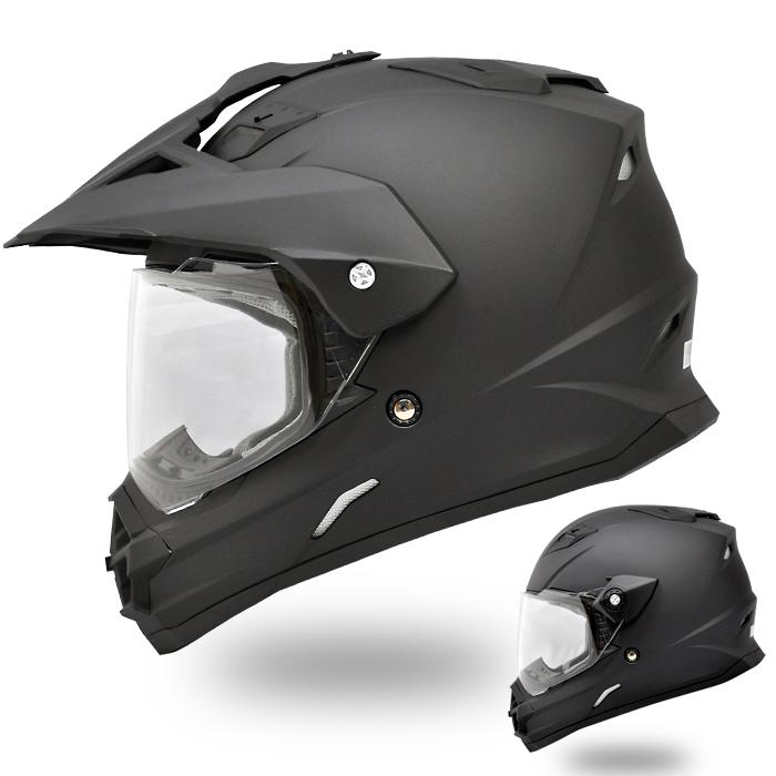 【THH】 フルフェイスヘルメット TX-26 [マットブラック] オフロードモデル Matte Black【SG規格認定・全排気量対応】