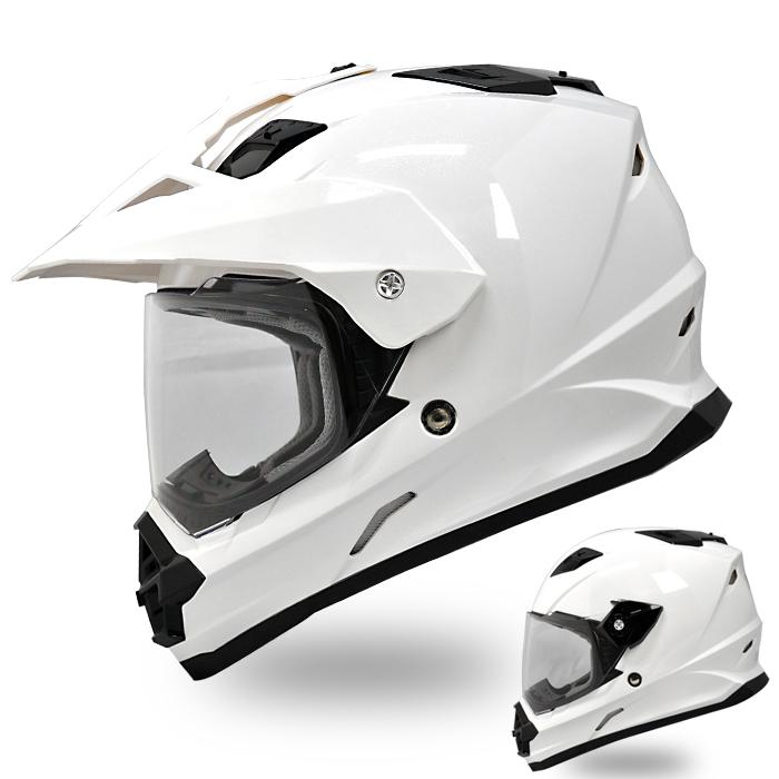 【送料無料】【THH】 フルフェイスヘルメット TX-26 [パールホワイト] オフロードモデル Pearl White【SG規格認定・全排気量対応】