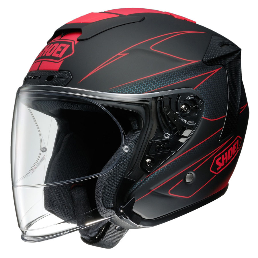 【送料無料】[SHOEI] J-FORCE4 MODERNO TC-1 RED/BLACK S ショーエイ[4512048453411]