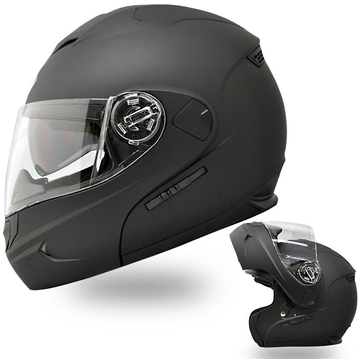 【送料無料】【THH】 システムヘルメット T-797 [マットブラック]インナーサンバイザー搭載モデル フリップアップ チンオープン【SG規格認定】【THH日本総代理店】