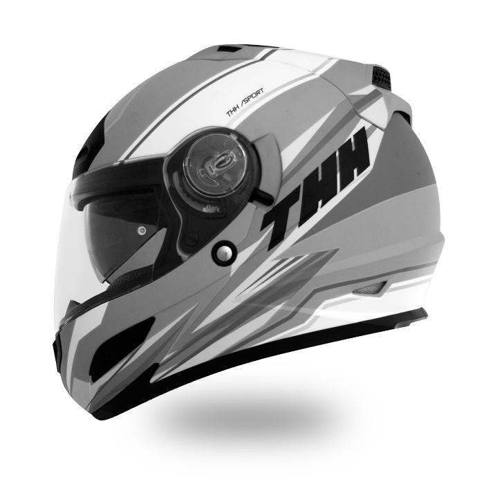 【THH】 フルフェイスヘルメット TS-43 [Nevis マットグレーホワイト]インナーサンバイザー搭載モデル PinLock対応シールド【SG規格認定・全排気量対応】