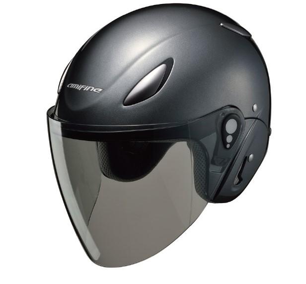 【Honda(ホンダ)】 ジェットヘルメット amifine FH1 ヘルメット ガンメタリック アミファイン