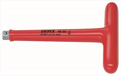 【KNIPEX(クニヘ゜ックス)】 【4003773026488】9830 (3/8SQ)絶縁T型ハント゛ル 1000V 9830
