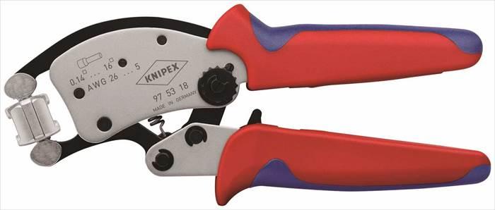 【KNIPEX(クニヘ゜ックス)】 【4003773082736】9753-18SB マルチアシシ゛ャストワイヤーエント゛圧着ヘ゜ンチ 9753-18SB