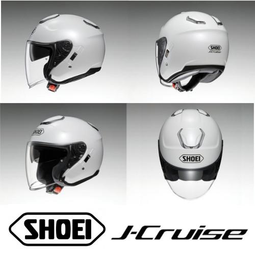 【SHOEI(ショウエイ)】 ジェットヘルメット J-CRUISE/ジェイクルーズ プレーン 開閉式インナーサンバイザー標準装備 オープンフェイス