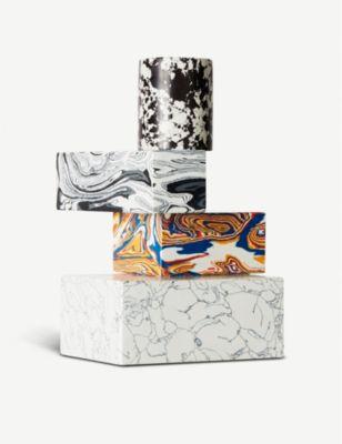 TOM DIXON 2020モデル スワール マーブル カンデラブラ candelabra marble Swirl 24.5cm 店舗