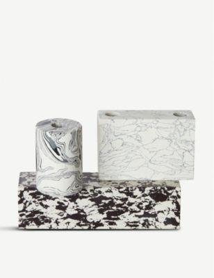新作からSALEアイテム等お得な商品 満載 TOM DIXON スワール マーブル キャンデラブラ 直送商品 17cm Swirl candelabra marble