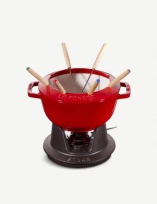 100%品質保証! STAUB キャストアイロン フォンデュセット 20cm set iron fondue ランキング総合1位 Cast