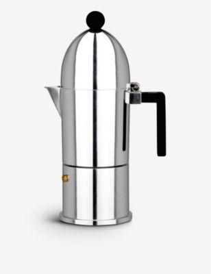 ALESSI ラクポラ 6カップ サービス エスプレッソ コーヒーメーカー La Cupola 爆買い送料無料 six-cup maker #Black espresso coffee