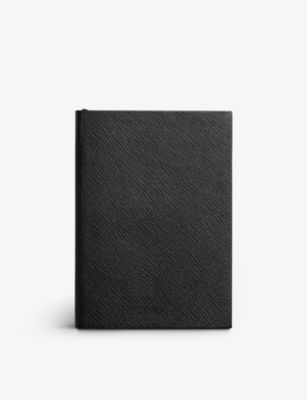 SMYTHSON 保証 ソーホー グレインレザー ノートブック 19cm 大特価 x 14cm grained-leather notebook Soho #BLACK