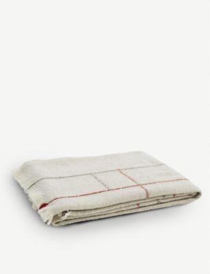 信託 TEIXIDORS エプト フリンジ ウール スロー 140cm wool 最安値に挑戦 fringed 180cm throw Apt x