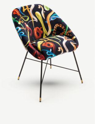 SELETTI セレッティ ウェアーズ トイレットペーパー スネークプリント ベルベット チェアー 割り引き セール 登場から人気沸騰 50cm Seletti 60cm snake-print chair velvet Toiletpaper Wears x