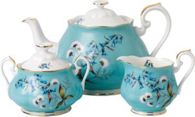 ROYAL ALBERT 公式 100イヤー 1950 フェスティバル ティーポット シュガー 限定品 アンド ミルク 100years festival sugar teapot set milk セット and