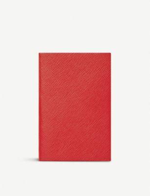 SMYTHSON チェルシー レザー ノートブック 17x12cm !超美品再入荷品質至上! notebook 人気ブランド Chelsea #RED leather