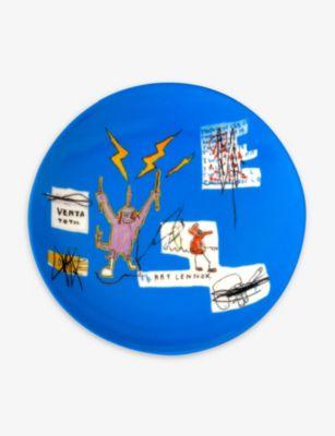 LIGNE 着後レビューで 送料無料 BLANCHE ジーンマイケル バスキア ポーセレイン プレート 21cm 期間限定特価品 Jean-Michel plate porcelain Basquiat