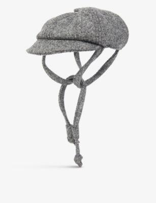 LISH フィリップ ウールブレンド ベーカー ボーイ ドッグ ハット Philip wool-blend baker boy dog hat #GREY