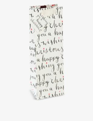 CAROLINE GARDNER クリスマス スローガンプリント 祝日 ギフト バッグ 37 Christmas bag 海外並行輸入正規品 x 90cm 37x90cm slogan-print gift